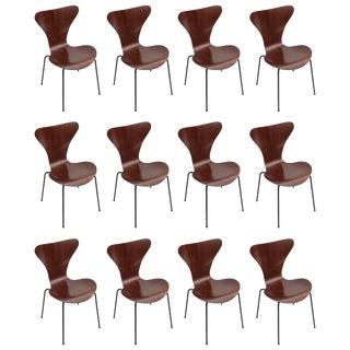 Set of Twelve 1960s Formiga Brazilian Jacaranda and Metal Dining Chairs For Sale
