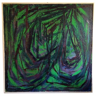 Large 1963 Abstract Expressionist Wright Painting