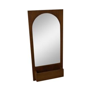 Paul McCobb Style Mid-Century Modern Walnut Wall Mirror For Sale
