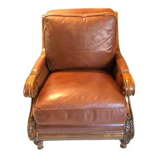Modern Contemporary Hancock and Moore Leather Chair For Sale