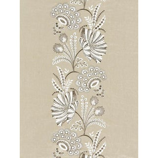 Sample, Scalamandre Annelise Embroidery, Flax Fabric For Sale