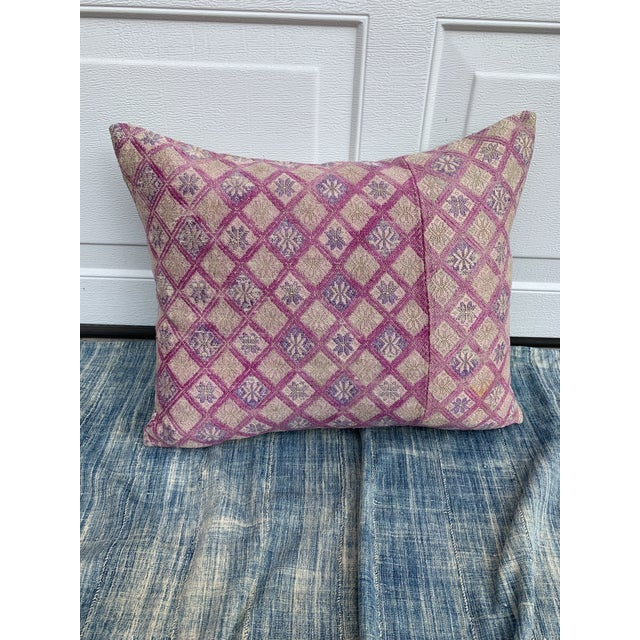 Tribal Antique Tribal Wedding Quilt Pillow For Sale - Image 3 of 11