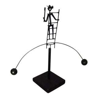 Mid-Century Modern Sculpture Kinetic Modernist Statue For Sale