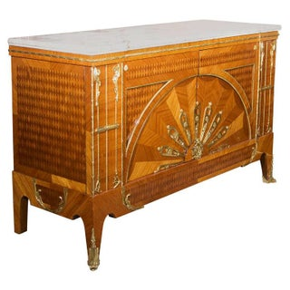 Art Deco Custom Quality Marble Top Commode For Sale