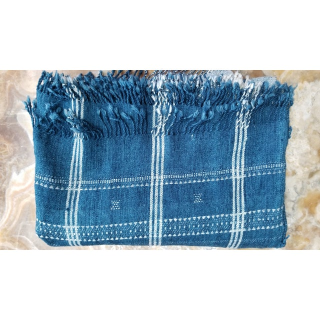 Textile Indigo With Shell Kutch Throw For Sale - Image 7 of 7