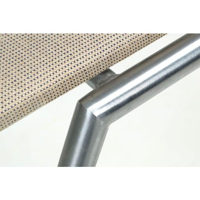Danish Modern Brushed Steel Side Chair by Kvist - Image 10 of 11