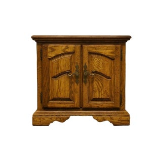 American Drew Country French Regency Solid Oak Nightstand For Sale