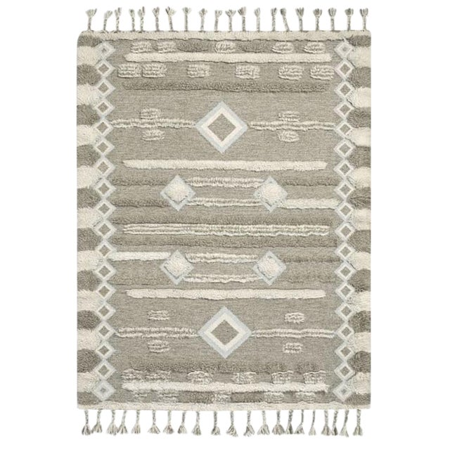 West Elm Mosaic Shimmer Shag Kilim Rug - 8'x10' For Sale