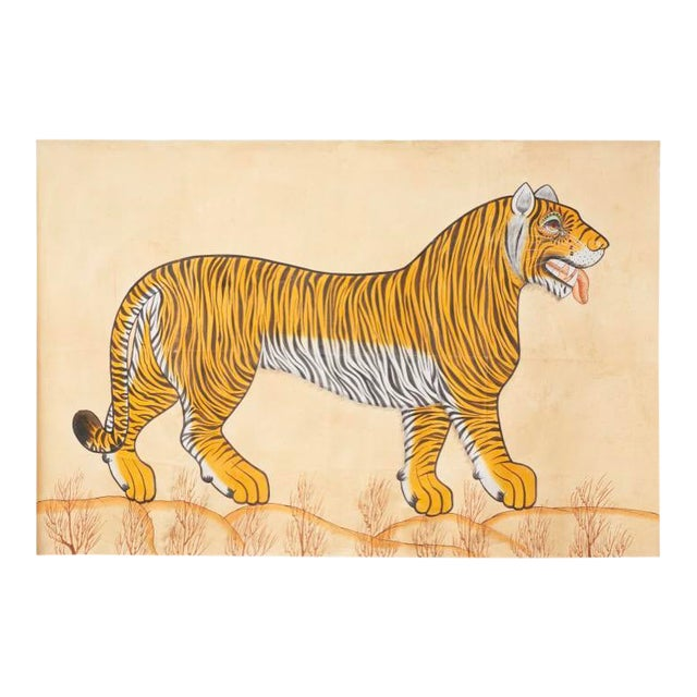 1980s Tiger Painting For Sale