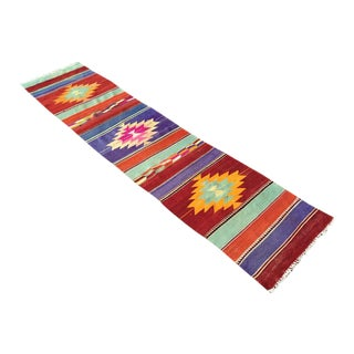Vintage Turkish Kilim Hallway Runner For Sale