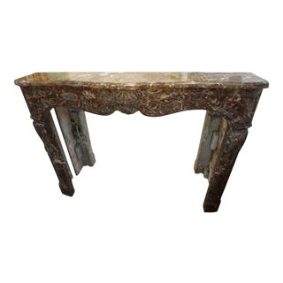 19th Century Regence Style Marble Mantel For Sale