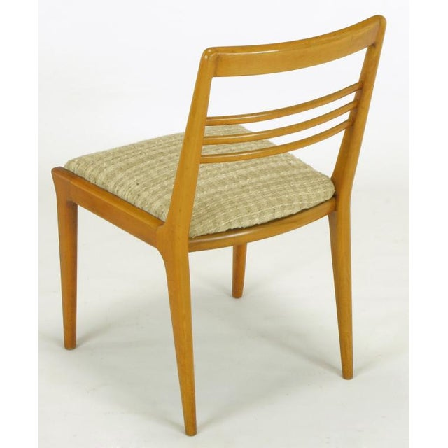 Silk Four Renzo Rutili Walnut & Upholstered Dining Chairs For Sale - Image 7 of 10