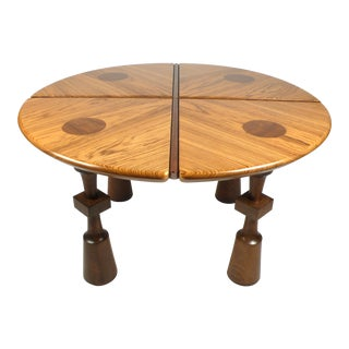 California Craftsman Exotic Wood Game Table For Sale