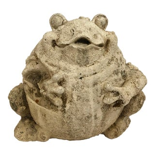 1960's Stone Frog Sculpture For Sale