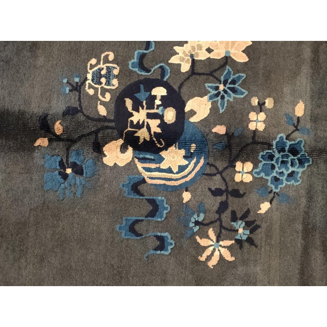 Antique Chinese Peking Rug For Sale - Image 4 of 6