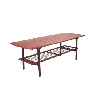 Vintage Danish Teak Coffee Table For Sale