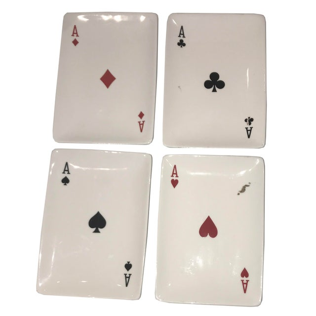 Pop Art Playing Card Motif Candy Dishes - Set of 4 For Sale - Image 3 of 3
