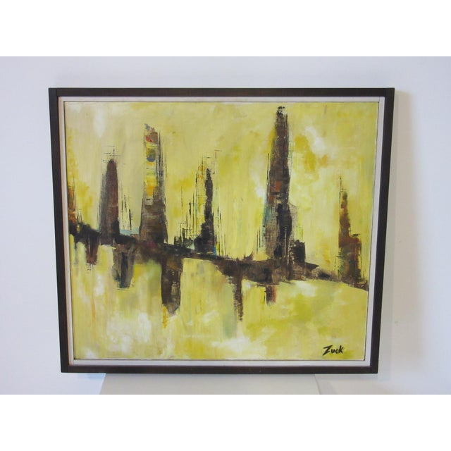 Paint Cityscape Painting by Zuck For Sale - Image 7 of 8