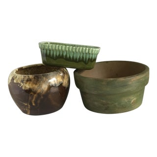 Assorted Pottery Plant Vessels - Set of 3