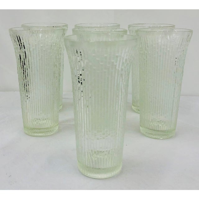 Mid-Century Modern Vintage Faux Bamboo Style Cocktail Tumbler Highball Glasses - Set of 7 For Sale - Image 3 of 11