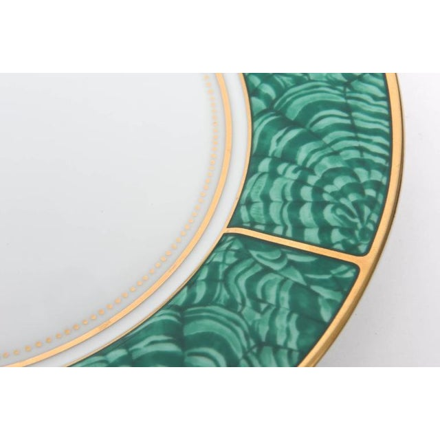 White Set of Four Settings of Georges Briard Imperial Malachite China Service For Sale - Image 8 of 9
