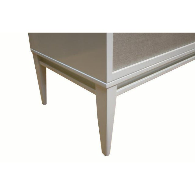 Customizable Bishop Lacquered Linen Door Console - Image 9 of 10