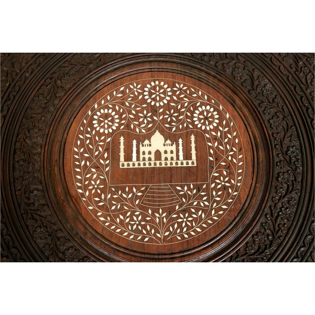 Early 20th Century Indian Bone Inlaid Octagonal Occasional Table For Sale In New York - Image 6 of 10