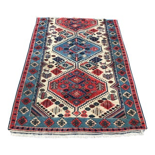 """1970s Turkish Vintage Pure Wool Rug - 3'6"""" X 5'2"""" For Sale"""