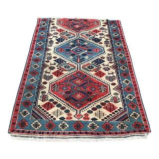 "1970s Turkish Vintage Pure Wool Rug - 3'6"" X 5'2"""