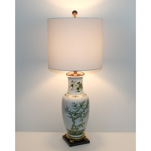 Overscale Vintage Japanese Porcelain Lamp - Image 10 of 10
