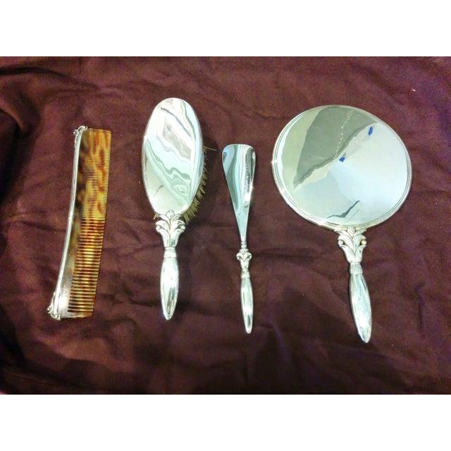 Georg Jensen Silver Dressing Set - Set of 4 - Image 2 of 11