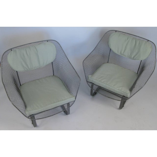 a pair of Classic vintage 1950's 'Sculptura' garden Lounge Chairs by Russell Woodard. the most comfortable and desirable...