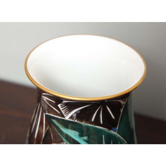 Art Deco Porcelain Vase by Robert Bonfils For Sale In New York - Image 6 of 8