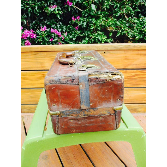 Antique Leather Fishing Tackle Box For Sale - Image 10 of 11