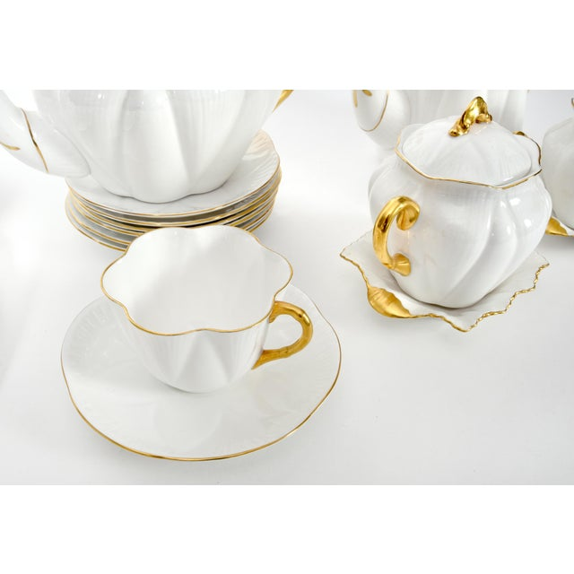 Vintage English Porcelain Tea / Coffee Service Service for 12 People - 36 Pc. Set For Sale - Image 11 of 13