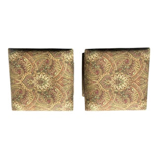 Ballard Designs Jewel Toned Ottomans - a Pair For Sale