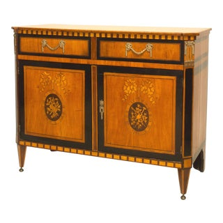 Finely Inlaid Late 18th Century Satinwood Commode For Sale