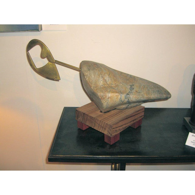 1960's Stone and Brass Sculpture For Sale In Palm Springs - Image 6 of 6