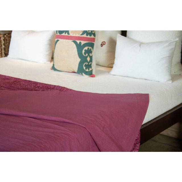 Lilac Sheesha Coverlet For Sale In Los Angeles - Image 6 of 8