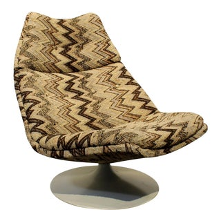 1970's Artifort Swivel Lounge Chair by Geoffrey Harcourt For Sale