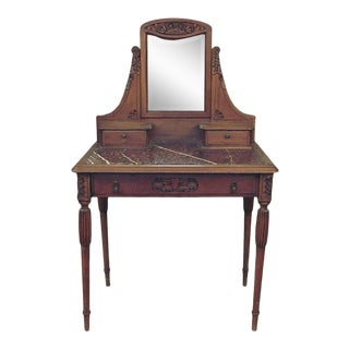 1933 French Marble-Topped Desk or Vanity For Sale