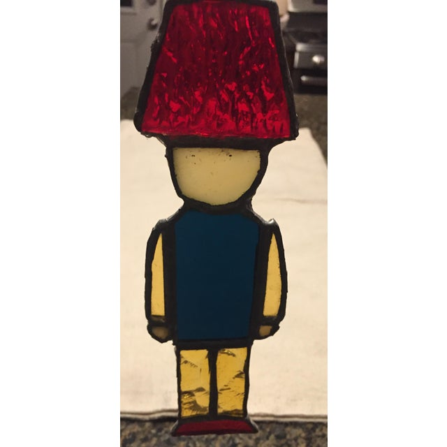 Stained Glass Nutcracker Toy Soldier For Sale - Image 4 of 6