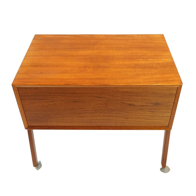 Danish Modern Sewing Table / Side Table For Sale In New York - Image 6 of 9
