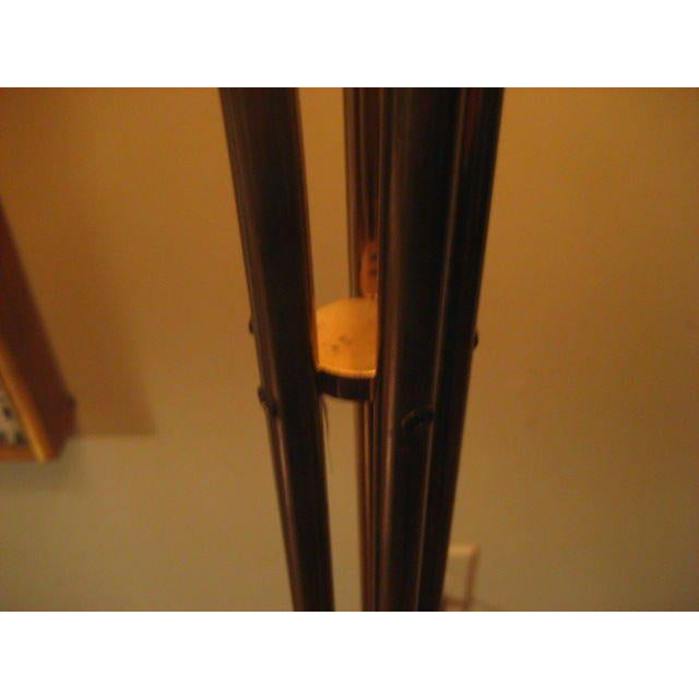 A Five Arm Tree Form Brass Floorlamp For Sale - Image 4 of 6