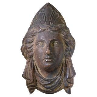 Antique Architectural Salvage Figural Bust Plaque For Sale