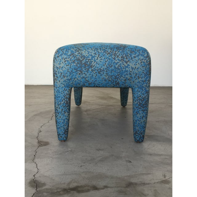 Blue Mid-Century Donghia Bench For Sale - Image 8 of 13