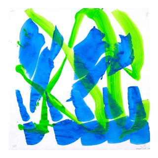 """""""Dolphin Dance 24"""" Painting by Ellen Priest For Sale"""