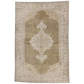 Vintage Mid-Century Turkish Oushak Rug - 4′9″ × 7′1″ For Sale