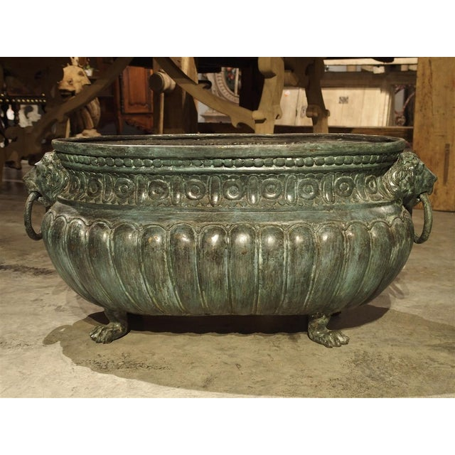 Large Antique Patinated Bronze Jardiniere From Italy, Circa 1890 For Sale - Image 13 of 13