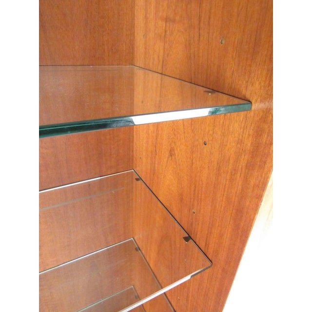 Pair of Scandinavian Modern Teak Display Cabinets For Sale In New York - Image 6 of 10